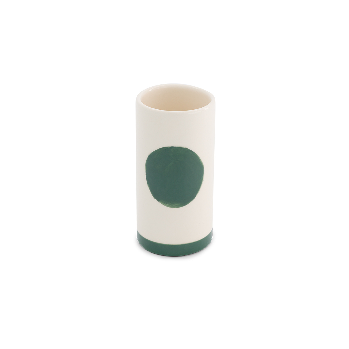 Pot Domino petit modèle motif vert