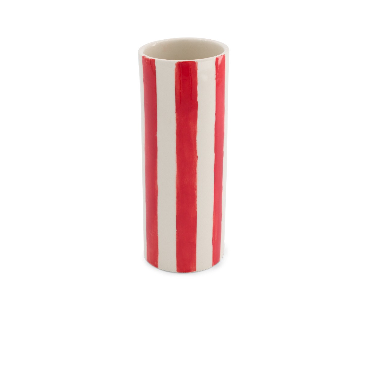 Pot Domino grand modèle motif rouge