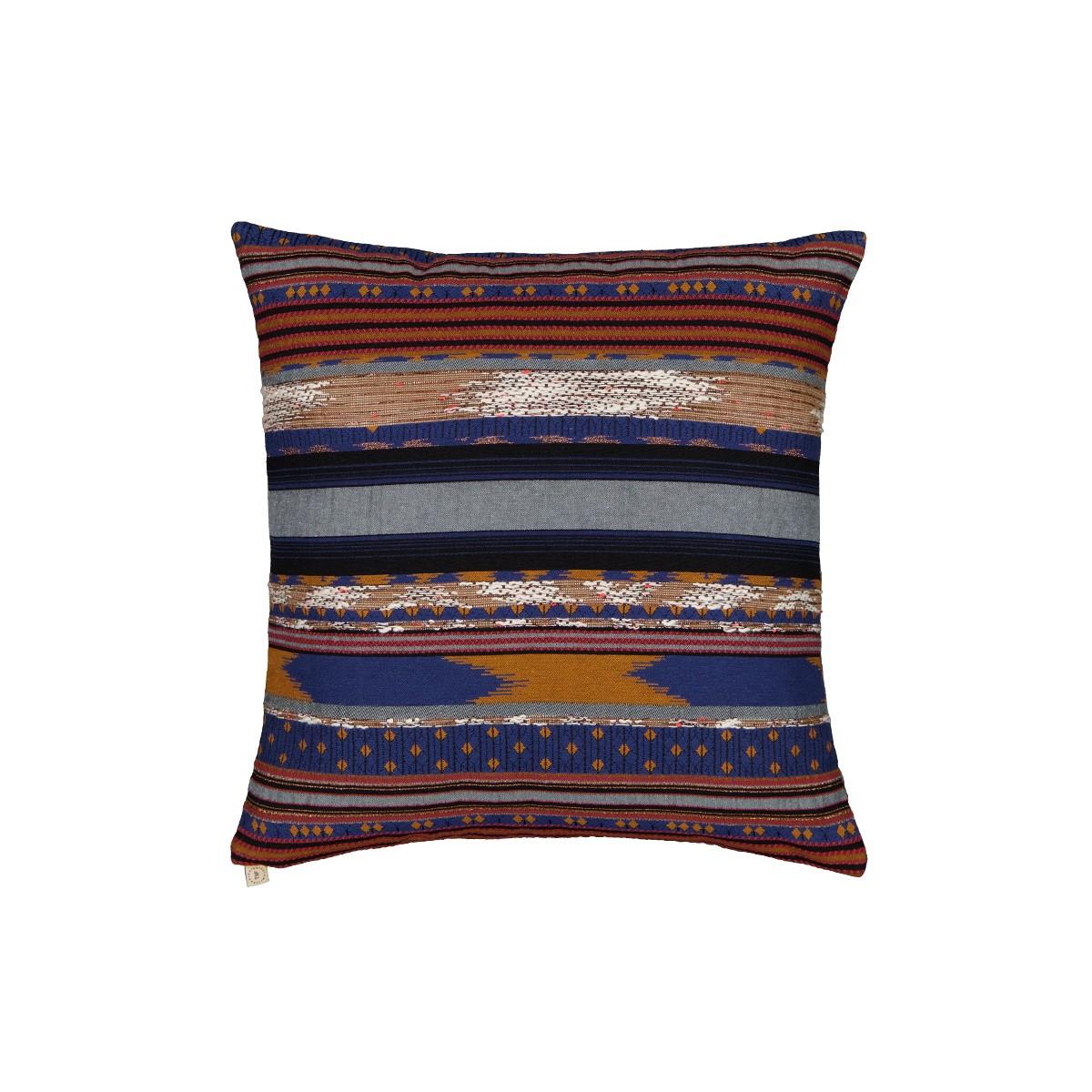 Coussin Viaggio motif bleu