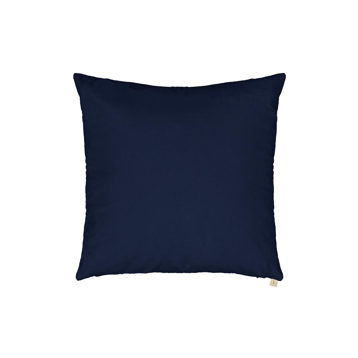 Coussin Carino velours bleu marine