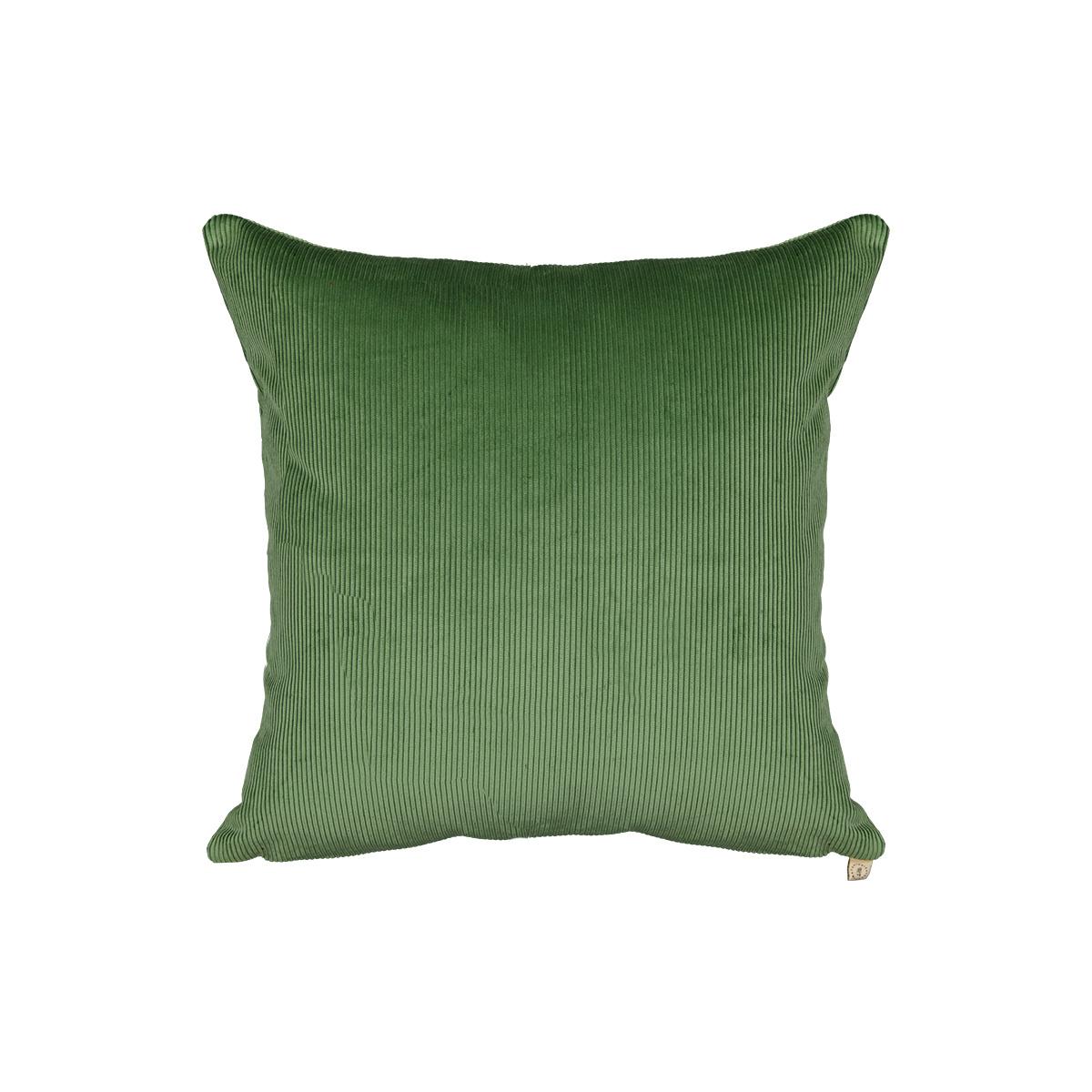 Coussin Carino velours côtelé vert amande