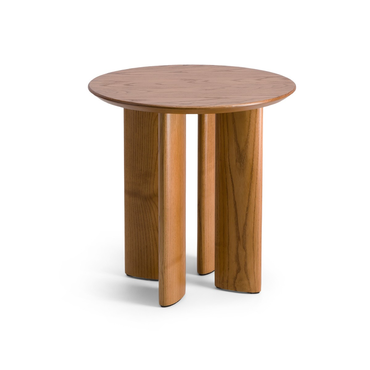Table d'appoint Carlotta frêne finition iroko