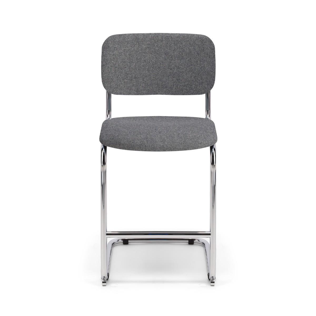 Chaise de bar Classica feutre gris