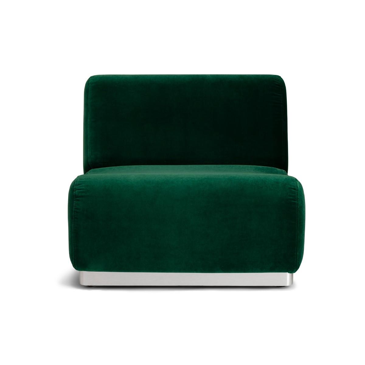 Chauffeuse modulable Rotondo velours vert sapin