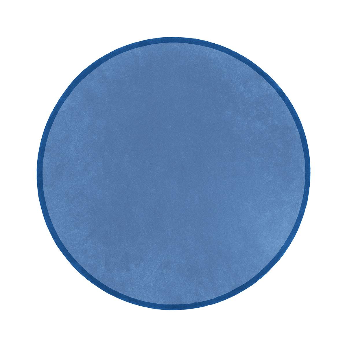 Tapis Luna rond bleu