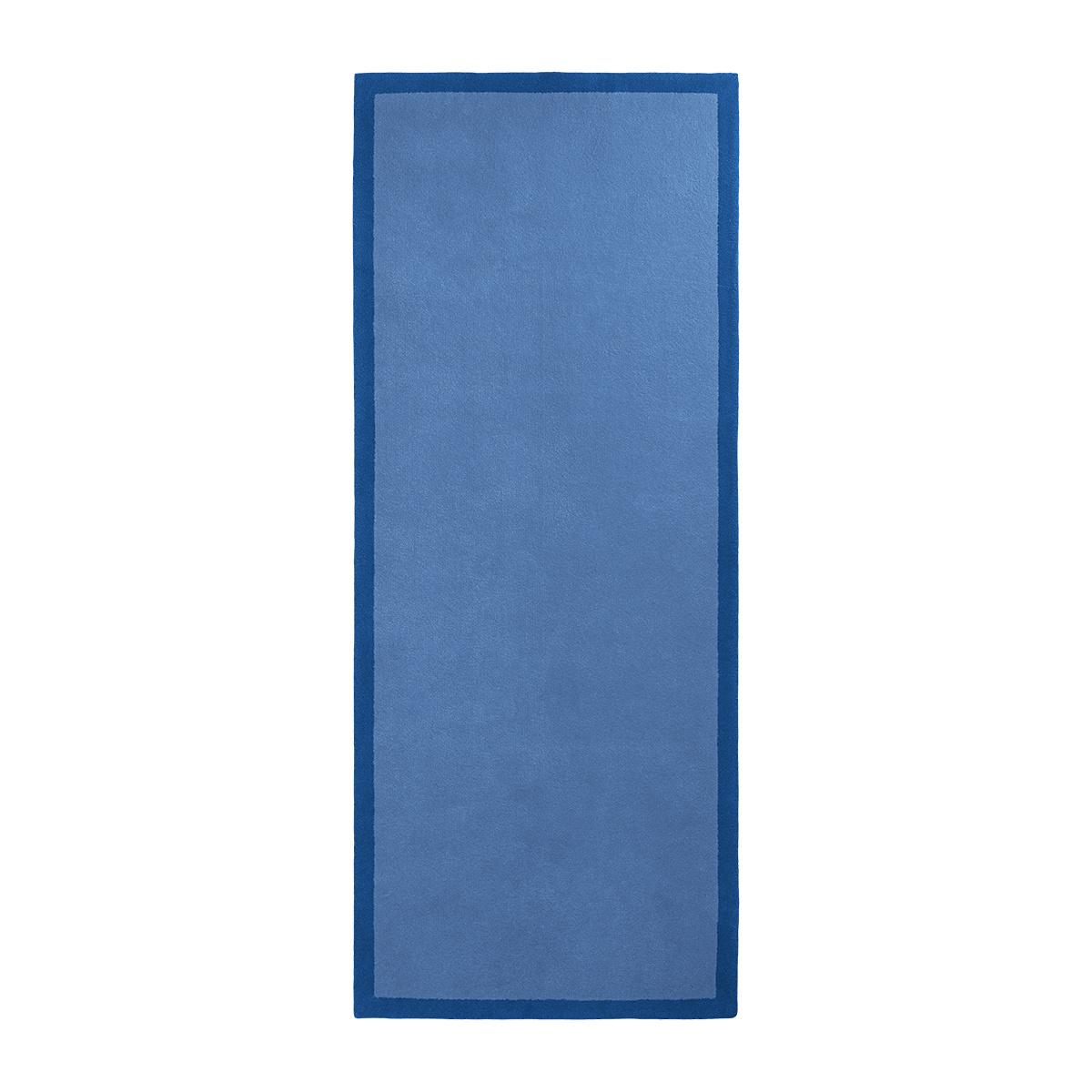 Tapis de couloir Luna bleu