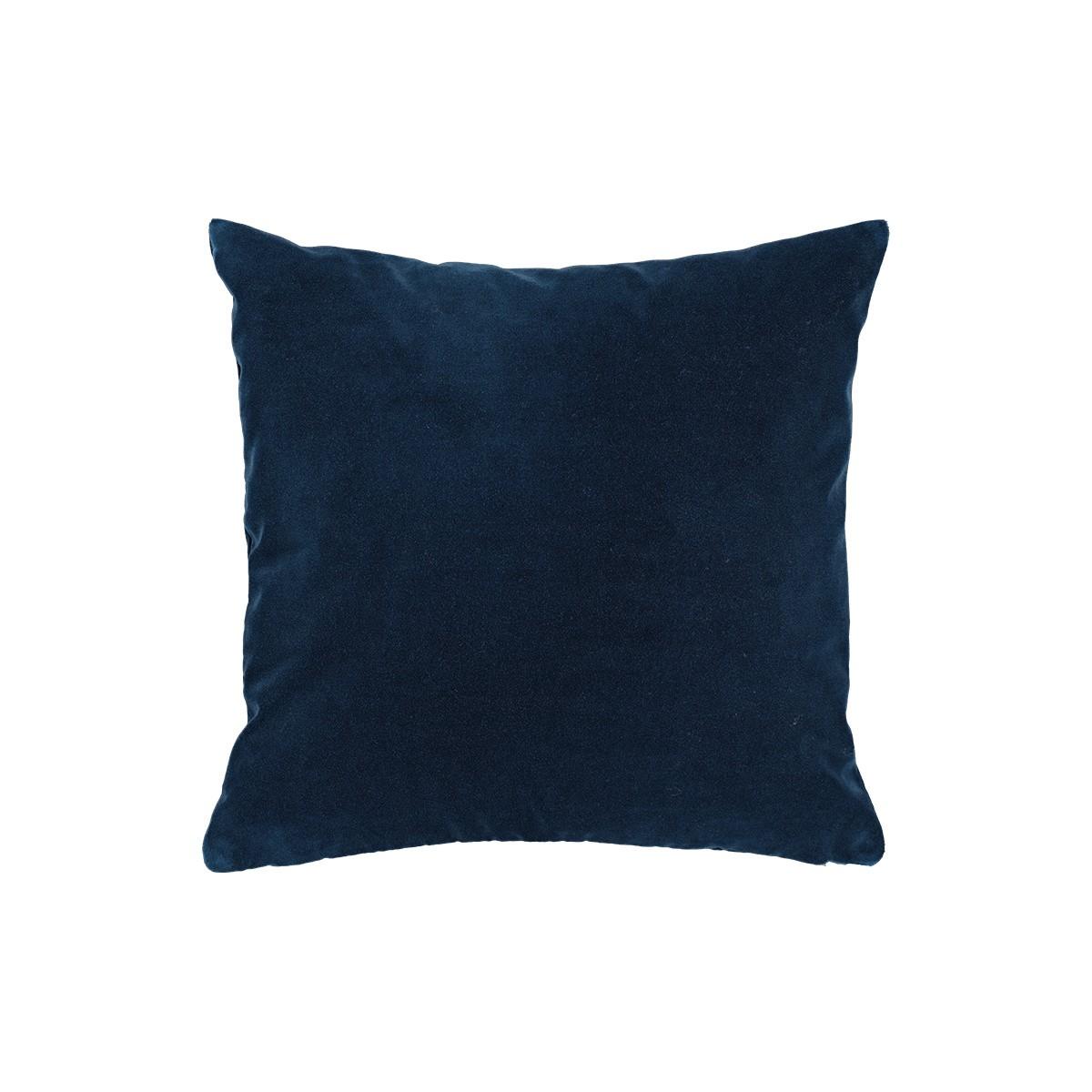 Coussin Rotondo velours bleu nuit