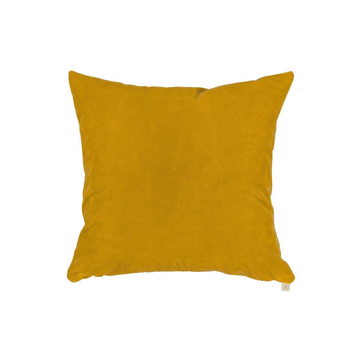 Coussin Rotondo velours moutarde