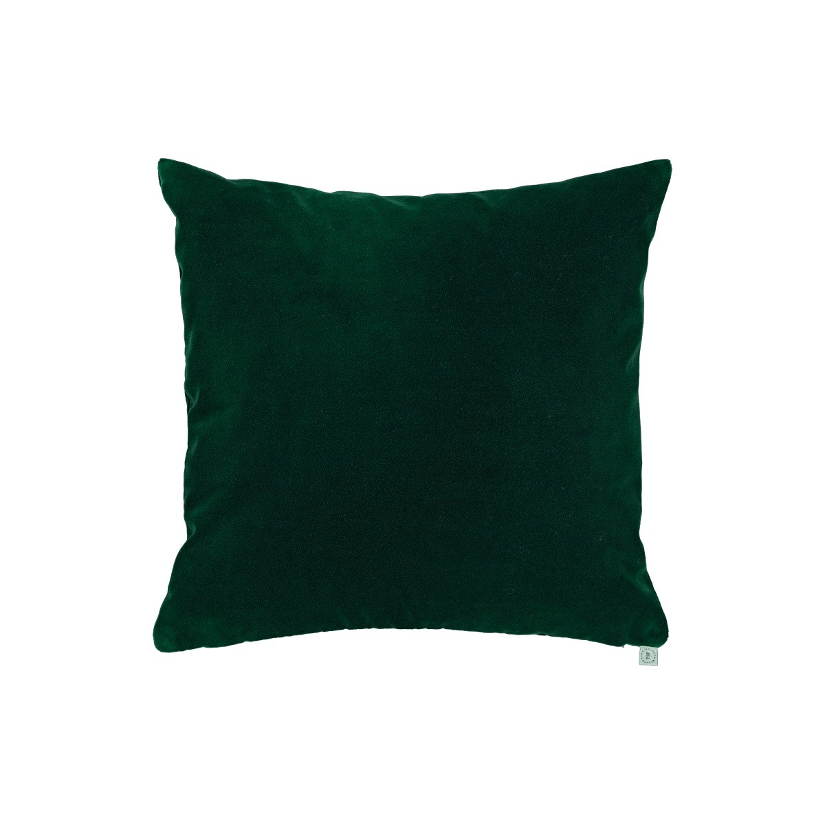 Coussin Rotondo velours vert sapin
