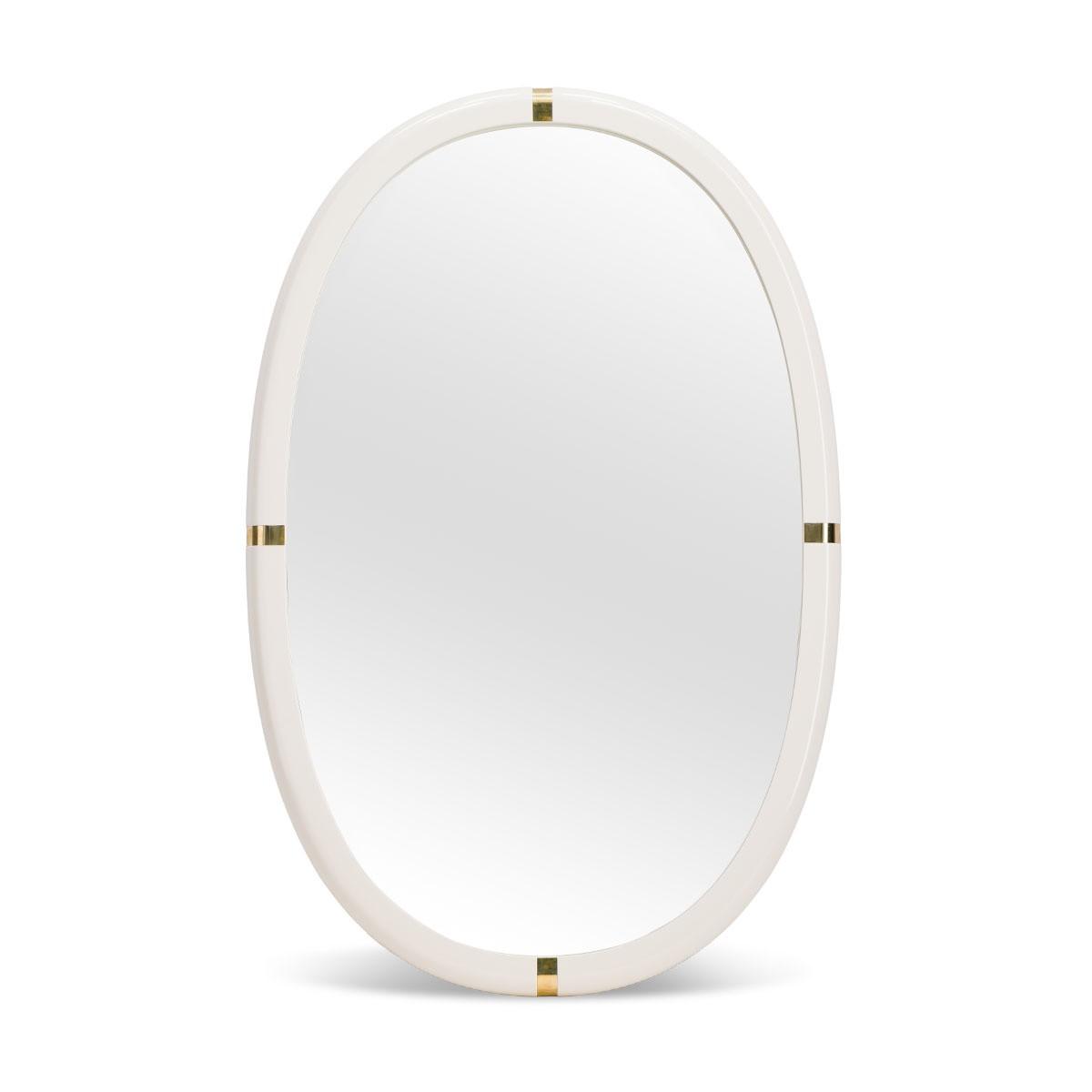 Miroir Marcello laqué blanc crème