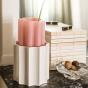 Vase Duetto rose bonbon et blanc
