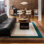 Canapé modulable Rotondo en cuir noir